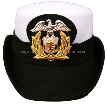 Women Officer Navy Hat Hand Made Peak Cap For Women Navy Officer ... 45fbf0e12