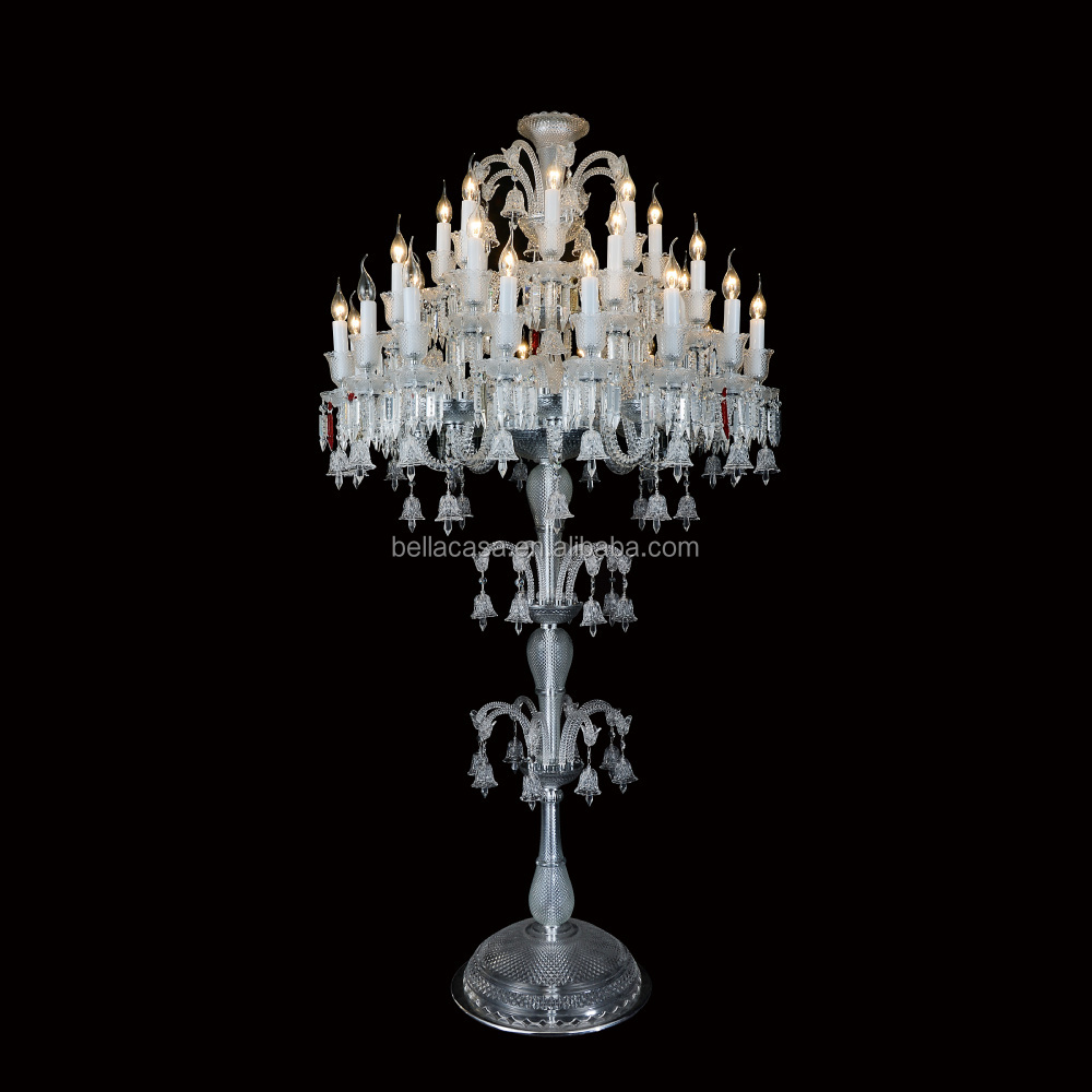 3 layers baccarat crystal chandelier floor lamp