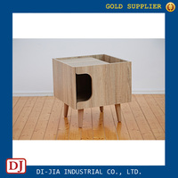 Wooden Storage End Table Side Table for Pet