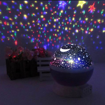 New rotation night lights lamps star sky projector romantic fairy led light star master lamp baby