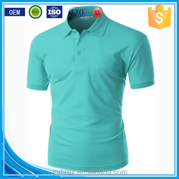 Trade assurance ring spun cotton fabric custom sublimated polo shirt green color