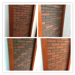 Exterior wall red brick tile