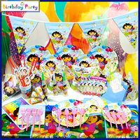 Wholesale Dora theme kids birthday party supplies