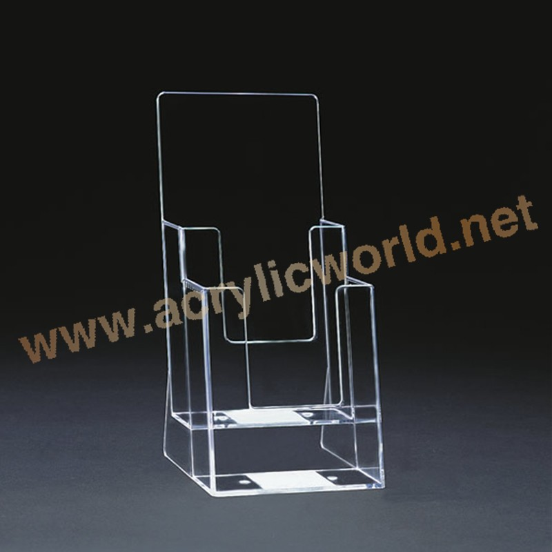 Transparant acryl outdoor floor stand A4 brochure display houder