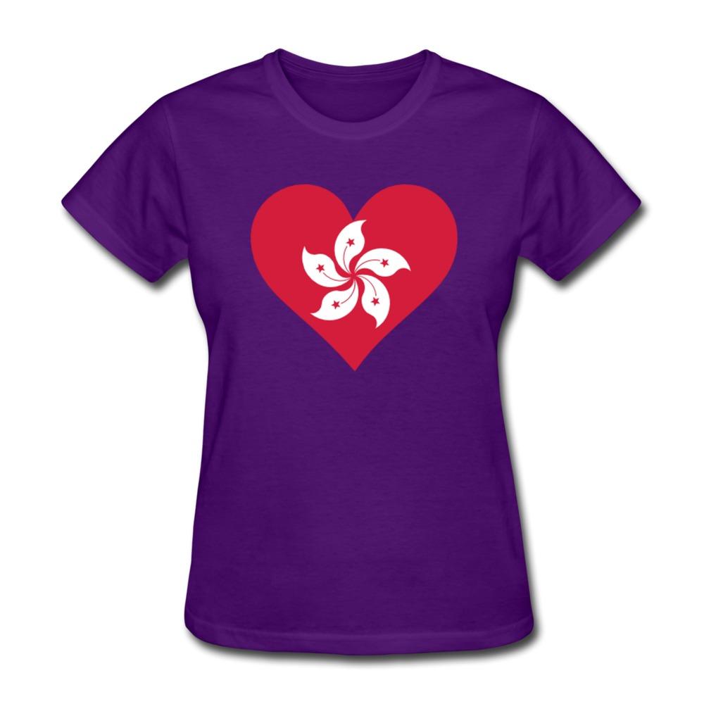 T shirt design hong kong -  2015 Printing Heart Hong Kong 2c Pre Cotton Summer Women T