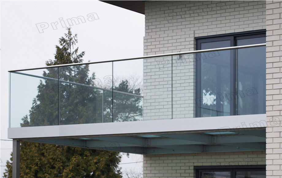 Aluminium bottom rail glass balcony outdoor aluminium for Glass balcony railing