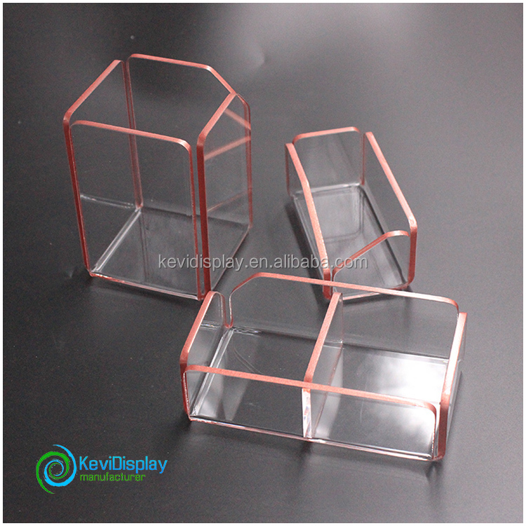 Bespoke Transparent Acrylic Office Organizer In Factory Price
