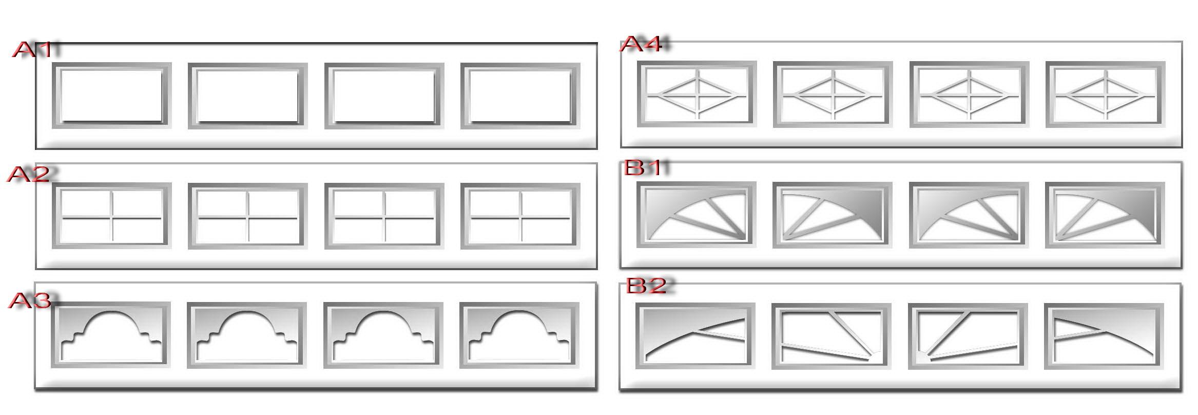 12 tipos diferentes de ventanas de PVC para puerta de garaje ...
