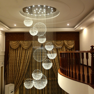 Large crystal chandelier Hotel/Hall/Home led light fixture of ceiling