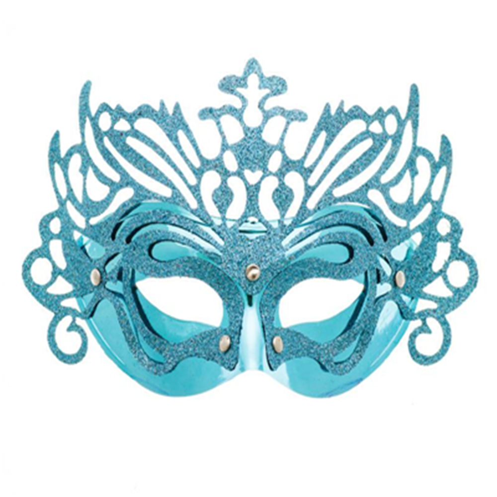 Good sell blue plastic lady half face Party Mask