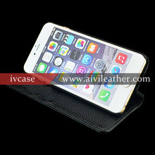 Wholesale Magnetic Real Leather Functional Phone Accessories Case for iphone 6s