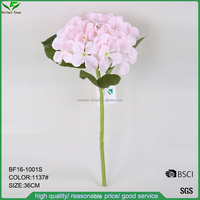 wholesale artificial single hydrangea flowers,hydrangea spray,hydrangea stem in pink