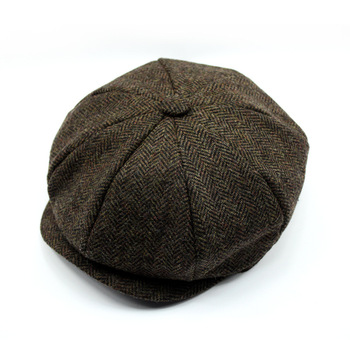 778b8c37a4253 fashion gery wool custom made men cap wholesale hard brim beret