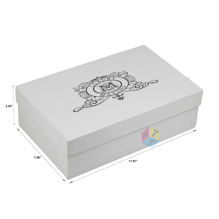 Custom White Cardboard Paper Shoe Box Dimensions