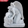 Stone Carving Life Size Marble Woman Angel Statue For Sale
