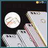 Ultra Thin Crystal Clear Electroplate Frame Bumper Soft Skin TPU Gel Case For Huawei Honor 8 Cover