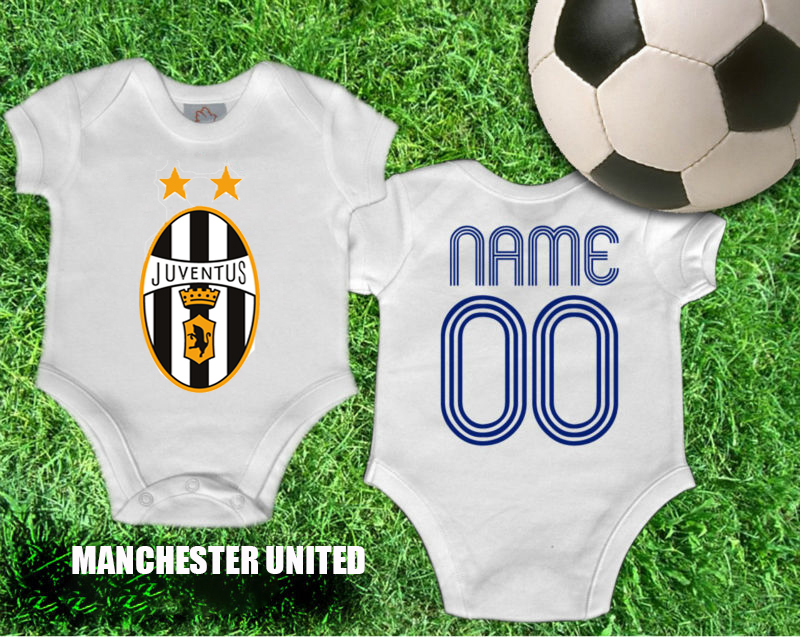 INFANT FC FOOTBALL SOCCER JERSEY ROMPER BABY BODYSUITS JUVENTUS FREE CUSTOM NAME NUMBER