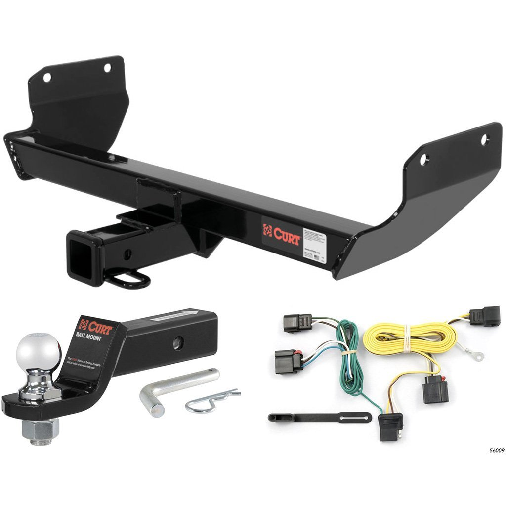 "CURT Class 3 Hitch Tow Package with 2"" Ball for 2011-2013 Jeep Grand Cherokee"