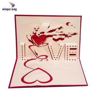 laser cut christmas cards 3d laser cutting greeting card pop up wedding invitation card - Laser Cut Christmas Cards