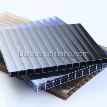 Colored Multiwall Pc Unbreakable Glass Sheet Plastic Roofing Panels For  Greenhouse