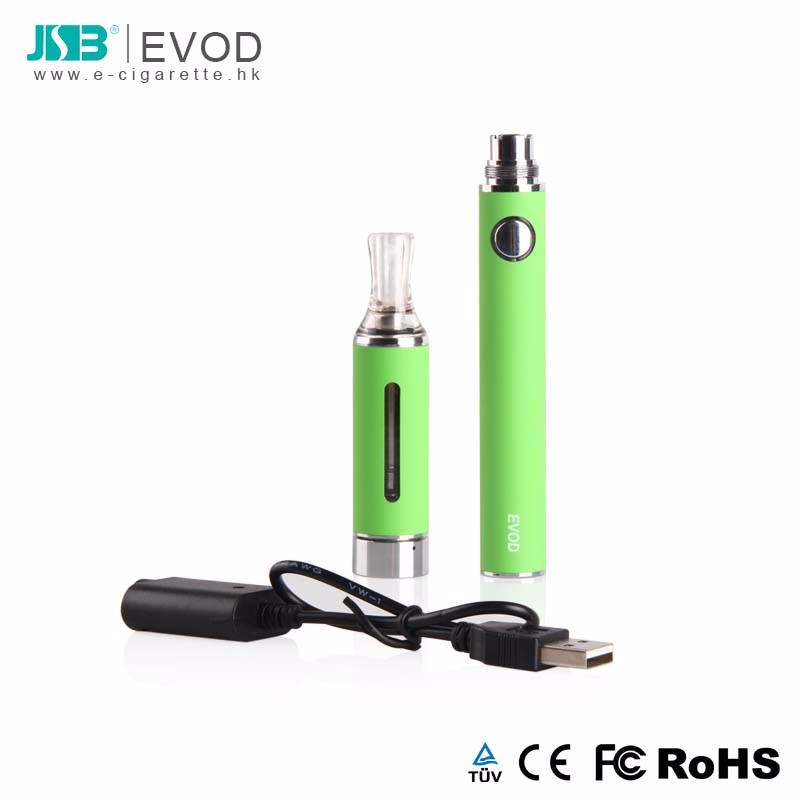 JSB manufacturer EVOD kit refillable e-cigarette 650mAh clearomizer blister card usb charger heating coil