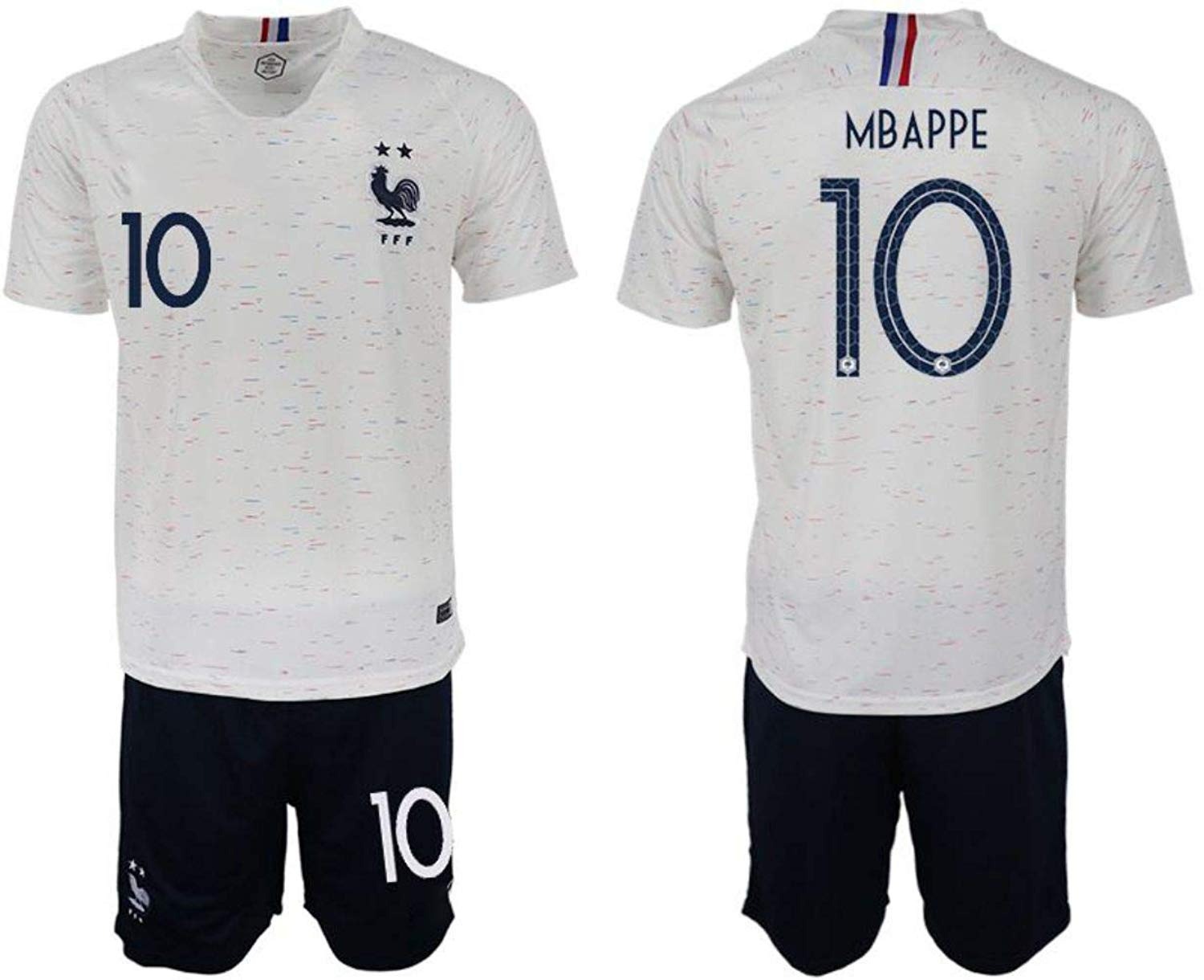 cc3c708f30a Get Quotations · 2018 Russia World Cup France Away Mens Soccer Jersey  Mbappe #10