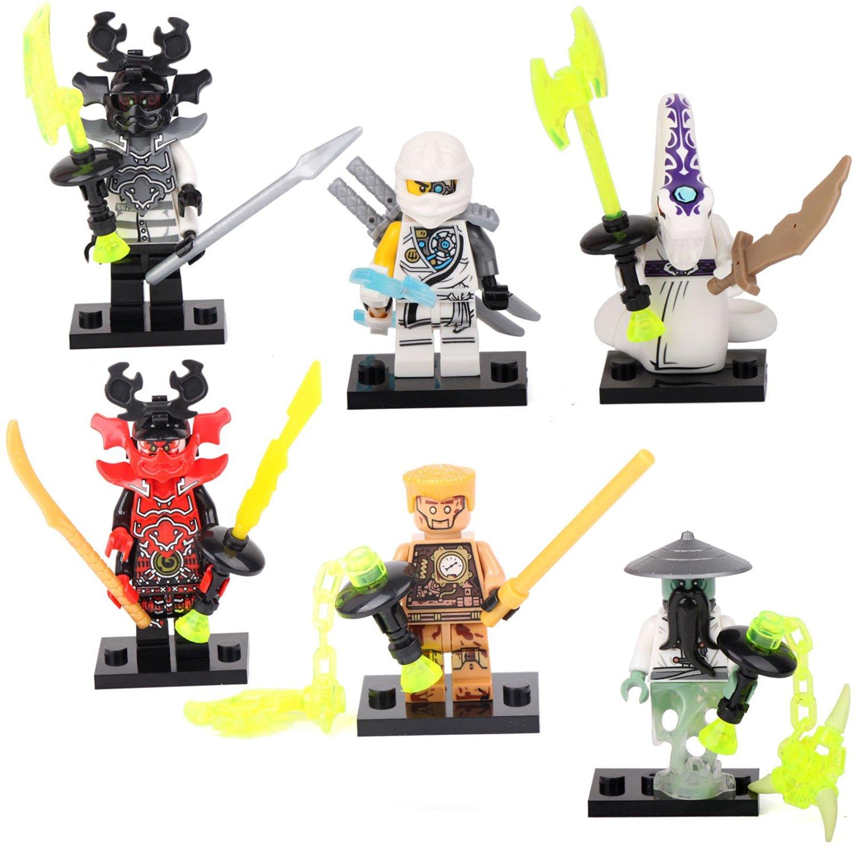 Buy 6 Ninja Ninjago Yang Pythor Echo Zane Kozu Minifigures Building