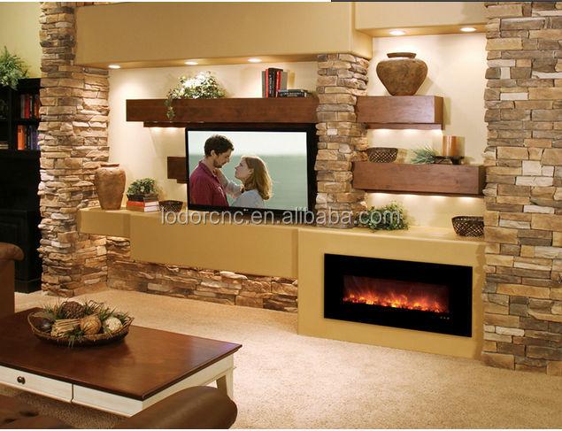Wand dekor flamme gehärtetem glas elektrischen kamin elektrischer ...