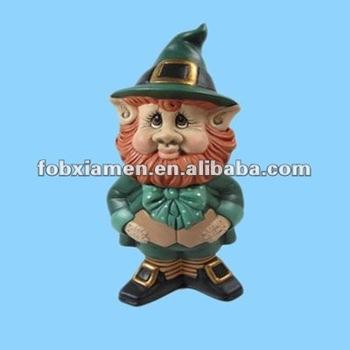 Superior Polyresin Miniature Leprechaun Statue Decorations