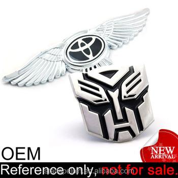 funny 3d foreign custom badge metal emblem car logo buy custom