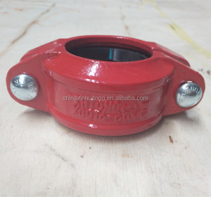 FM,UL certificated grooved pipe fittings flexible coupling