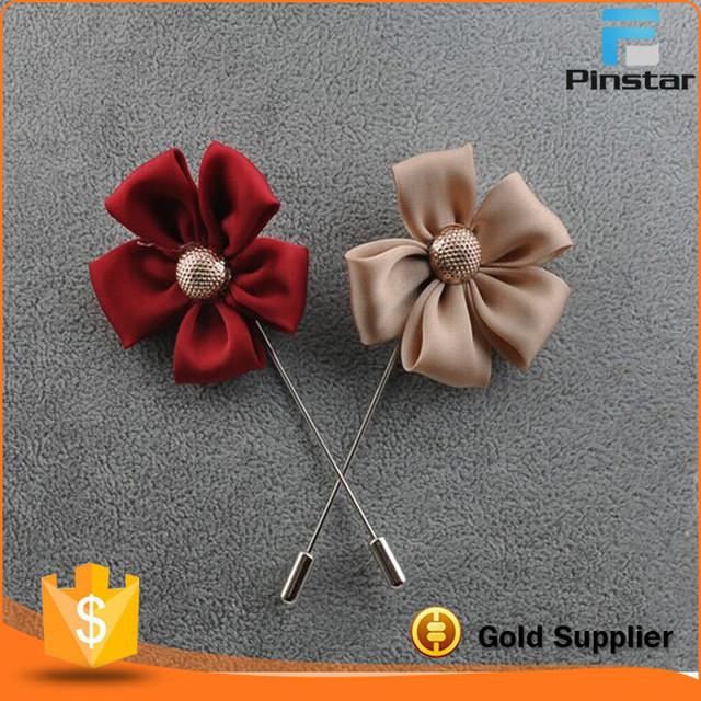 Buy cheap china silk flower brooch products find china silk flower small moq stock fashion handmade silk fabric mens lapel flower brooch pin mightylinksfo