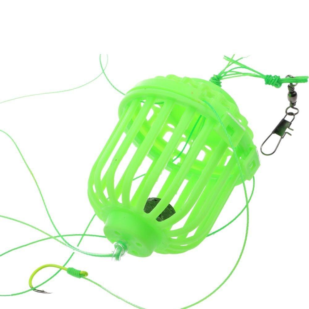 Get Quotations · Foreveryang Green Plastic 6in1 Lantern Carp Bait Fishing  Lure Float Explosion Hooks Box Set 14
