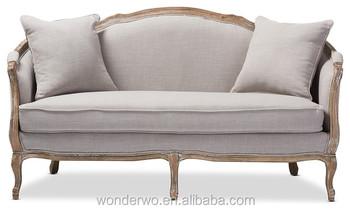 Schlafsofa Landhausstil Malerei : Wohnzimmer möbel französisch landhausstil holz leinen sofa polster