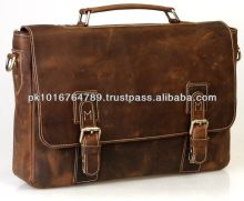 Vintage Genuine Leather Laptop Messenger Bag Men Leather Shoulder Bag 2014