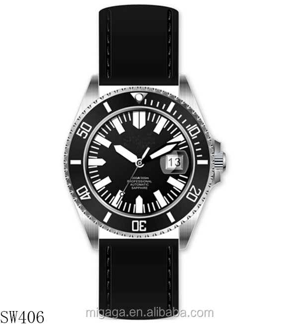 diver watch 300m water resistant accepting custom design