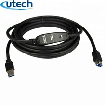 Utech USB3.0 AM BM Actieve Printer Repeater Kabel 15 M