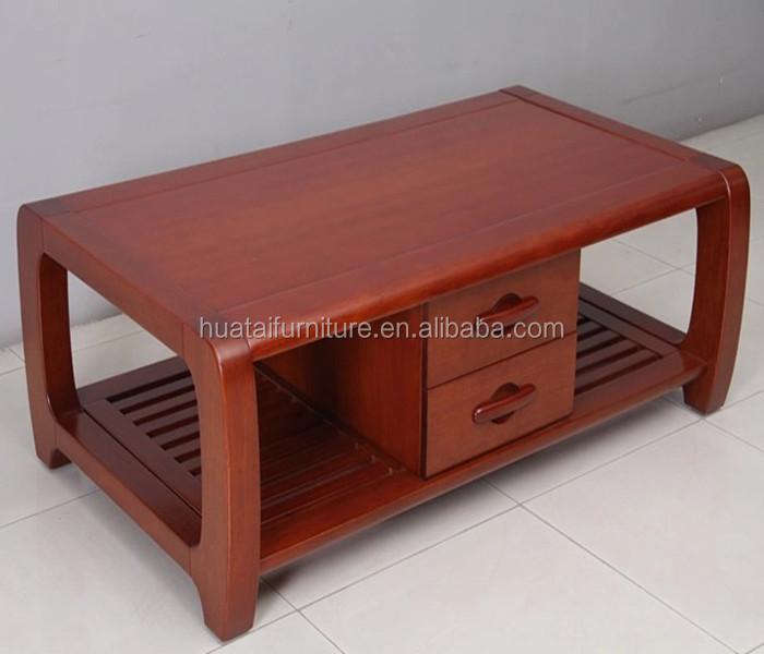 Vintage Practical Solid Wooden Living Room Furniture Design Tea