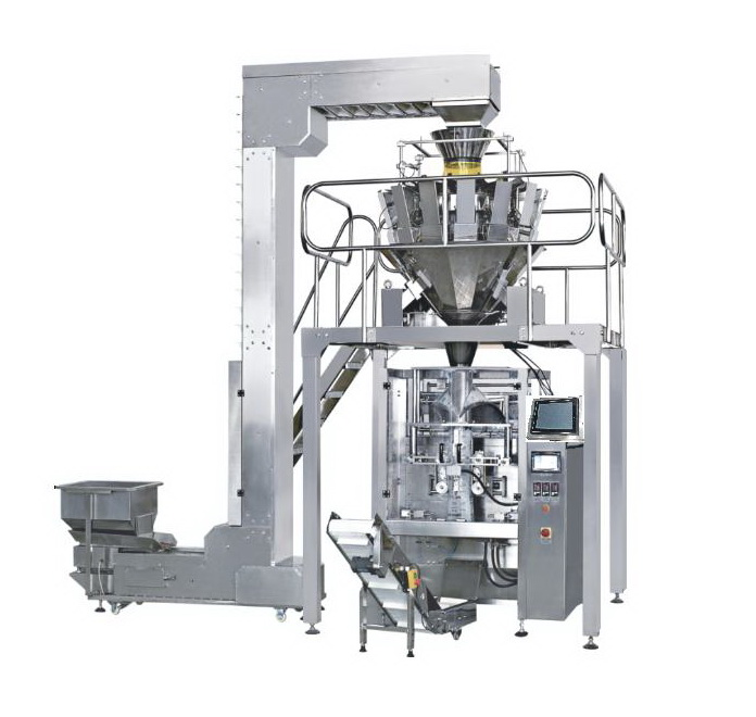 potato chips automatic weighing flow packing machine