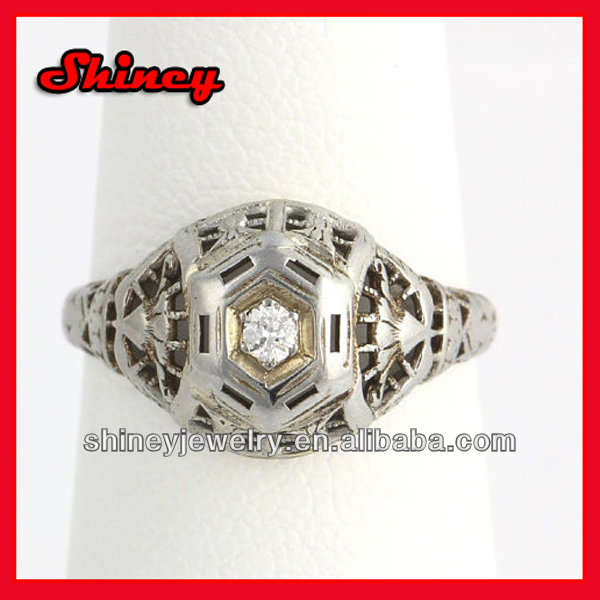 luxury factory customize micro pave cz baguette cz cuban link chain hip hop ring