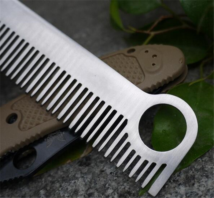 Health Care <strong>hair</strong> <strong>Comb</strong> unisex Stainless <strong>Steel</strong> EDC gear Tactical Pocket Matte <strong>Comb</strong>