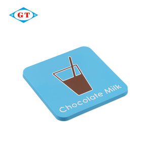 Cheap customize promotional world cup use pvc silicone rubber coaster