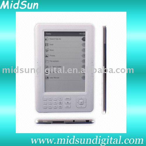 7 inch color mid fashional e-book reader with WIFI reader FM function and 3G optional