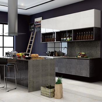 Panda Handless Kitchen Cabinets Glass Doors Miami - Buy ...