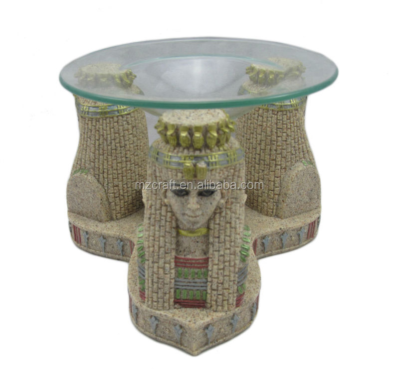 Egyptian Sandstone Aroma Lamp resin Incense Burners crafts gift 12036