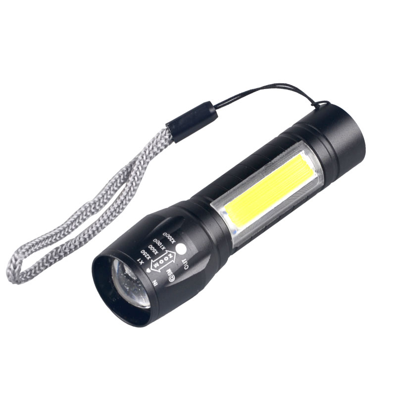 3 watt LED COB Led Micro Wiederaufladbare Mini Led Taschenlampe USB Taschenlampe Zoomable-led Taschenlampe