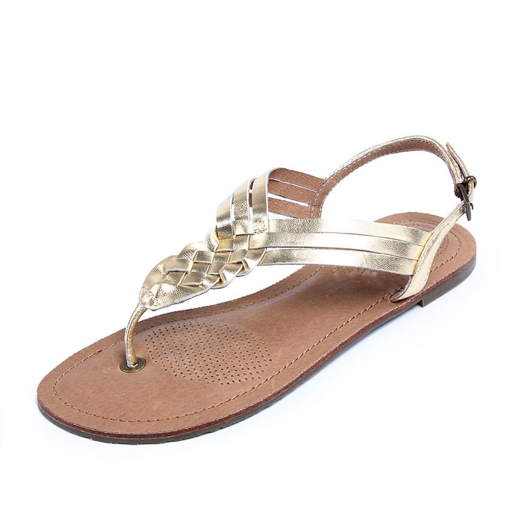 De Casual En 2015 tienda Zapatos Tienda Sandalias Buy Oro Moda Plana Línea Planas Gladiador Oro kXiZPu