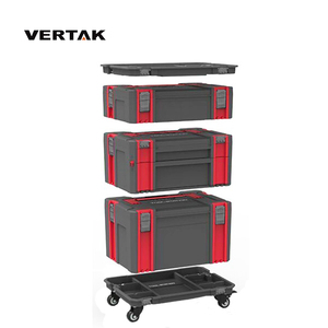 VERTAK portable plastic handle tool cabinet set/tool box trolley with drawer