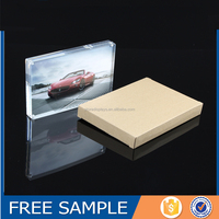 Custom Clear Glass Perspex Acrylic Magnetic Picture Photo Block Wholesale