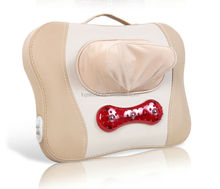 Vibrating neck massage pillow with PU material LY-898